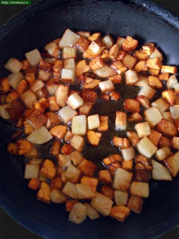 Сытный Омлет с поджаренными овощами